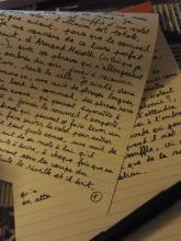 Joachim Séné - page manuscrite